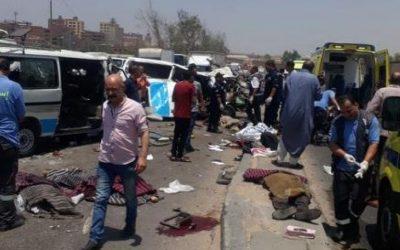 مصرع واصابة 6 في تصادم سيارة ملاكي وربع نقل علي طريق شربين -دمياط