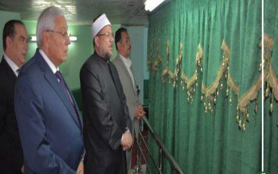وزير الأوقاف يزو قبر الشيخ الشعراوي ويفتتح مسجد النادي في ميت غمر
